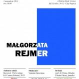 5.11 – Poveşti despre România şi reportajul polonez cu Małgorzata Rejmer la Bookcorner