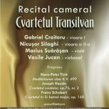 28.11 – Recital cameral sustinut de Cvartetul Transilvan la Muzeul de Arta