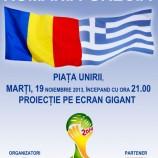 19.11 – Hai Romania! Meciul Romania-Grecia transmis live in Piata Unirii