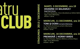 3-18.12 – Teatru de club in Diesel. Programul lunii Decembrie