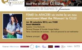 28.11 – Meet the WOMAN Cluj cu Irina Markovits, fondatoare Image Matters