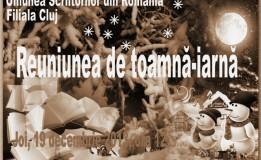 19.12 – Filiala Cluj a USR – Reuniunea de toamnă-iarnă