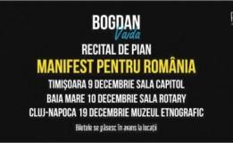 19.12 – Manifest pentru România – Recital de pian Bogdan Vaida si Expozitie de fotografie