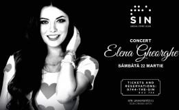 22.03 Concert Elena Gheorghe în SIN Social Club