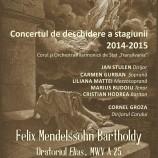 19.09 Concertul de deschidere a stagiunii 2014 – 2015 la Filarmonica de Stat