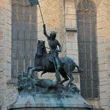 "The Statue of ""Saint George Killing the Dragon"""