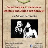 09.11 Concert acustic in memoriam Doina și Ion Aldea Teodorovici