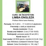 19.11-17.12 Limba engleză – curs începători