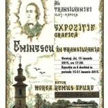 15-31.01 Expoziţie de grafică: Eminescu în Transilvania