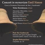 27.02 Concert vocal-simfonic in memoriam Emil Simon