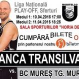10.04 U Banca Transilvania vs. BC Mures