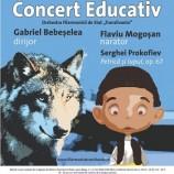 13.05 Concert educativ: Petrică și lupul