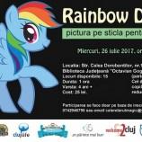 """26.07 """"Rainbow Dash"""" – Atelier de pictura pe sticla pentru copii"""