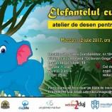 """12.07 """"Elefantelul curios"""" – Atelier de desen pentru copii"""