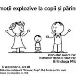 5.09 Atelier: Emoţii explozive la copii şi părinţi