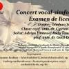 27.03 Concert vocal-simfonic. Examen de licenţă