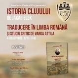 27.11 Lansare de carte: Istoria Clujului
