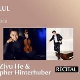 8.09 Festivalul Enescu : Recital Ziyu He & C. Hinterhuber