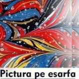 23.10 Pictura pe esarfa: tehnica ebru