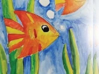 25.03 Atelier de pictura in acuarele pentru copii: Pestisorii magici