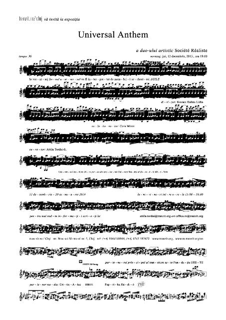 afis vernisaj expozitie universal anthem