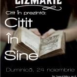 """24.11 – Spectacol de poezie senzoriala """"Citit in Sine"""" in La Cizmarie"""