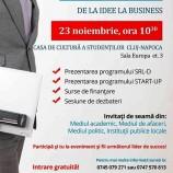 23.11 – Conferinta Indrumarea tinerilor spre antreprenoriat