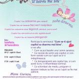 """30.11 – Seminarul """"Cum sa-ti ajuti copilul sa doarma mai bine"""" la Cluj"""