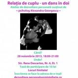 """28.11 – Atelier de dezvoltare personala """"Relatia de cuplu – un dans în doi"""""""