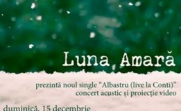 """15.12 – Concert acustic LUNA AMARĂ și proiecție video """"Albastru – live la Conti"""""""