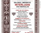 13.12 – Lansari de carte, expozitii si recital in cadrul Salonului Umoristic Interludis 2013