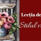 27.04 Atelier: Lectia de pictat-Stilul Vintage